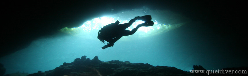 CCR Diver at Chac Mool Cavern in Mexico
