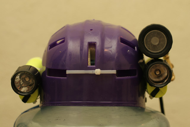 Sidemount Helmet Front View