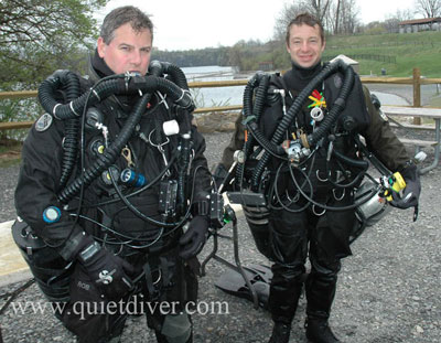 Megalodon and Prism Rebreathers (CCR) Sidemounted at Dutch Springs NJ
